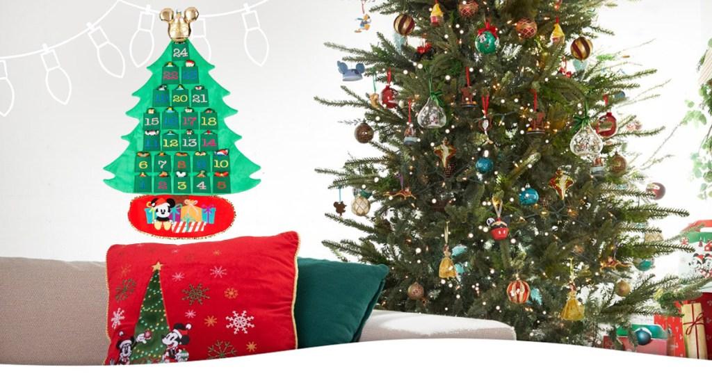 disney advent calendar hanging on a wall