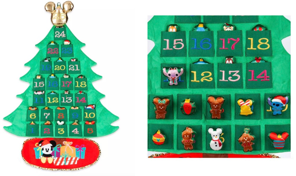 Disney mickey hanging advent calendar