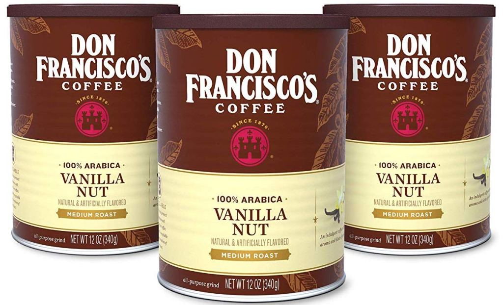 Don Francisco's Vanilla Nut coffee cans
