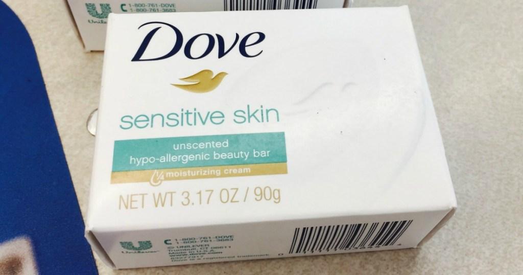 Dove Sensitive Skin beauty bar in a box