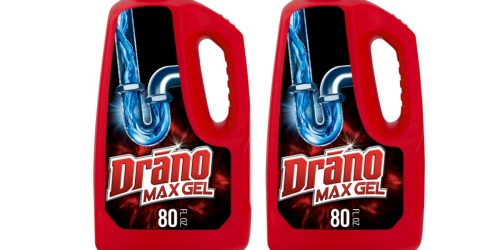 Drano Max Gel HUGE 80oz Bottle Twin Pack Only $7.86 Shipped at Amazon