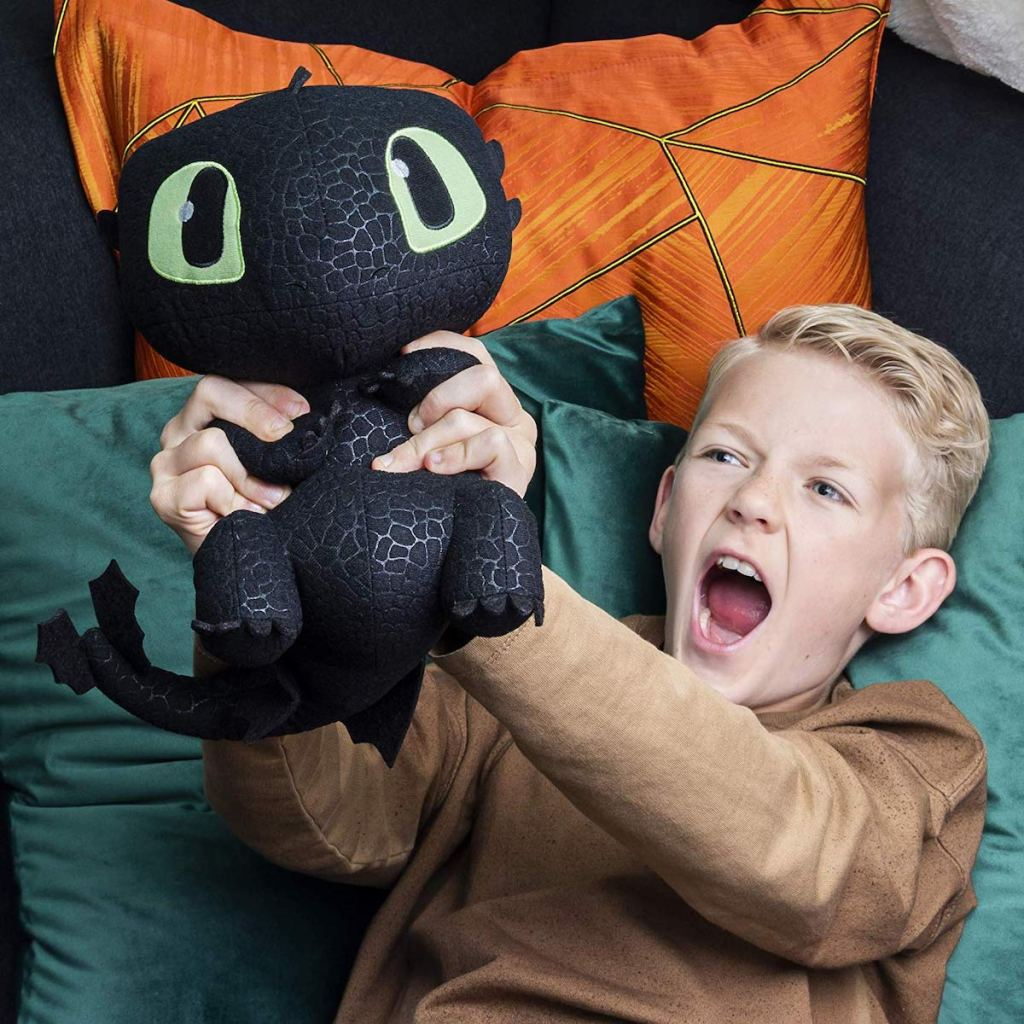 Dreamworks Dragons, Squeeze & Growl Toothless, 10 Plush Dragon with Sounds