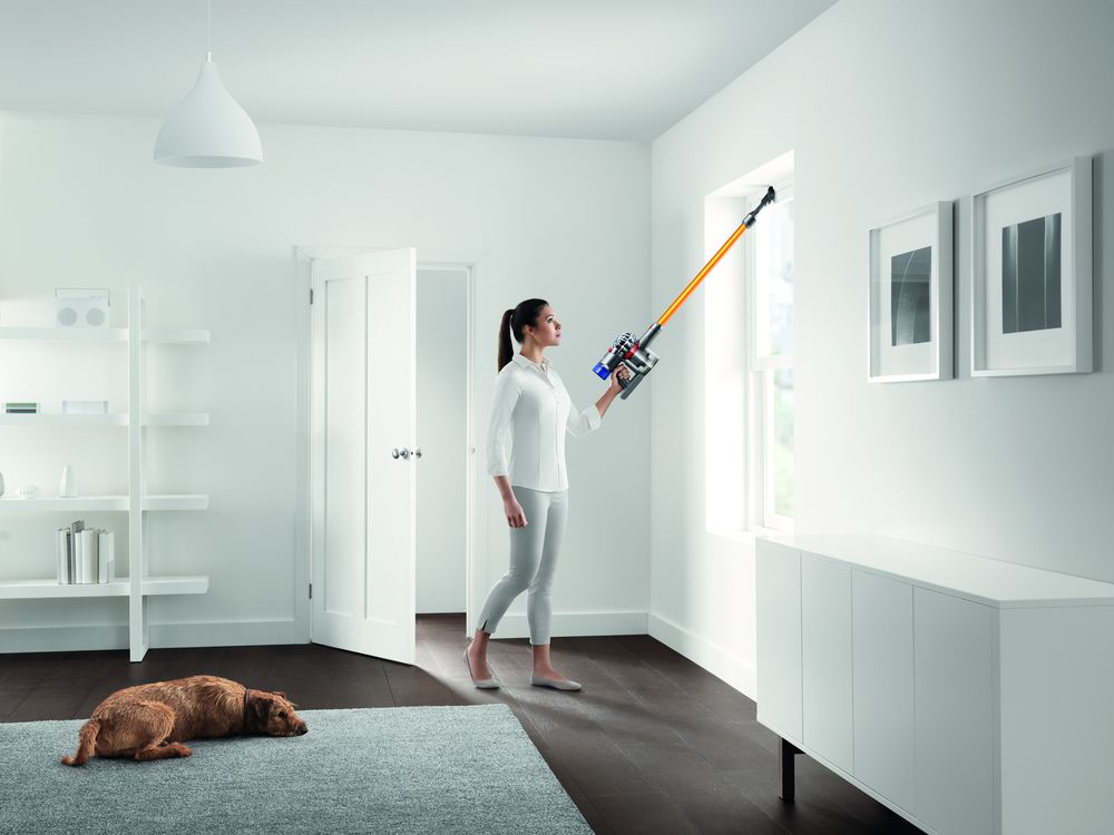 Dyson V8 Absolute stick cleaning windows