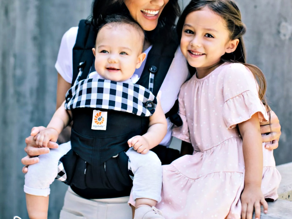 Ergobaby 360 All Carry Positions Ergonomic Baby Carrier with family