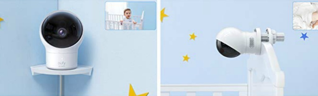 Eufy Baby Monitor installed on wall or crib