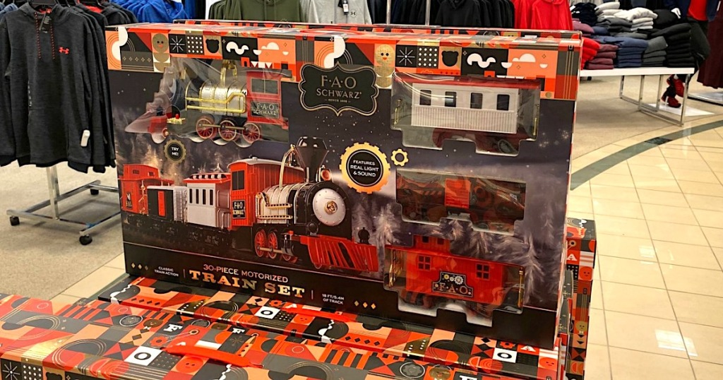 FAO Schwarz train set at Belk