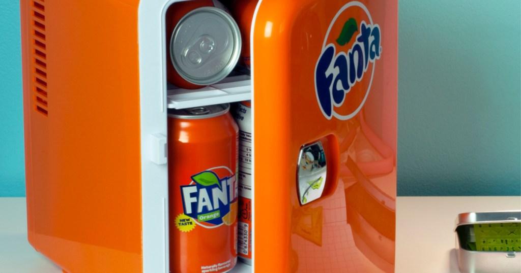 orange fanta mini fridge