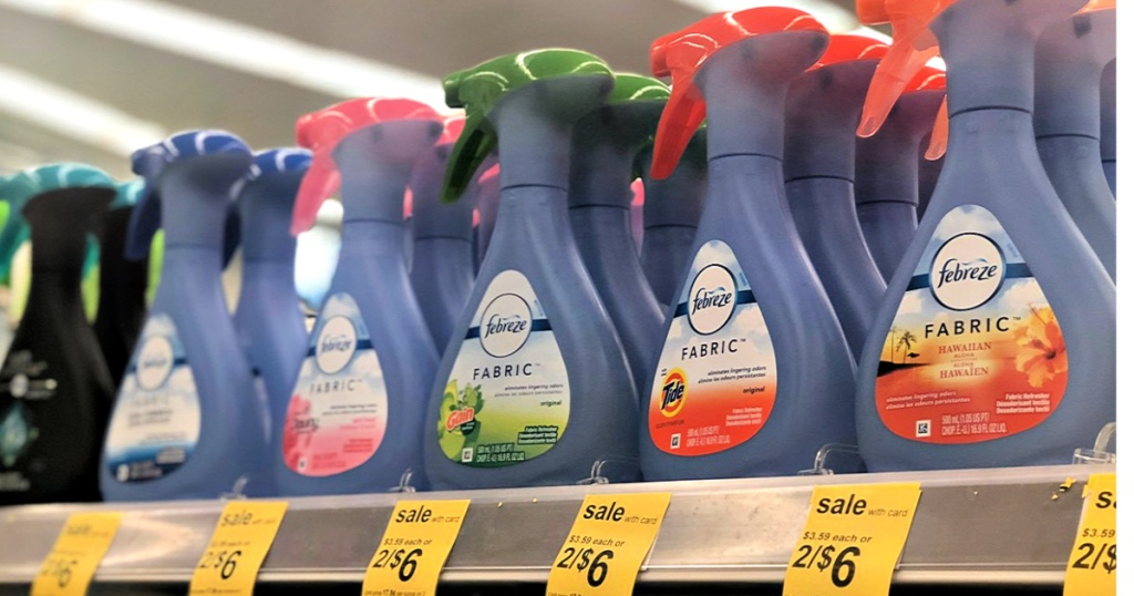 Febreze Fabric Air Fresheners at Walgreens on shelf