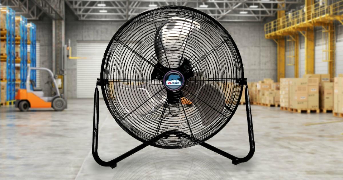 "20/"" B-Air FIRTANA-20X High Velocity Electric Industrial and Home Floor Fan"