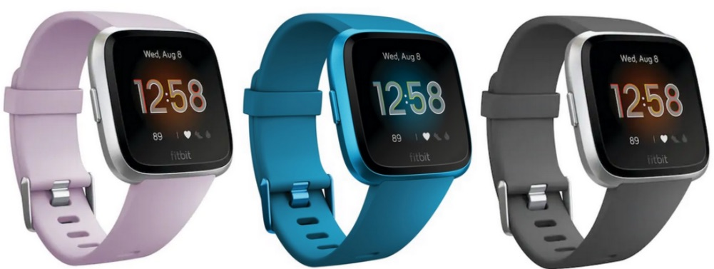 Fitbit Versa Lite Edition Smartwatches in different colors