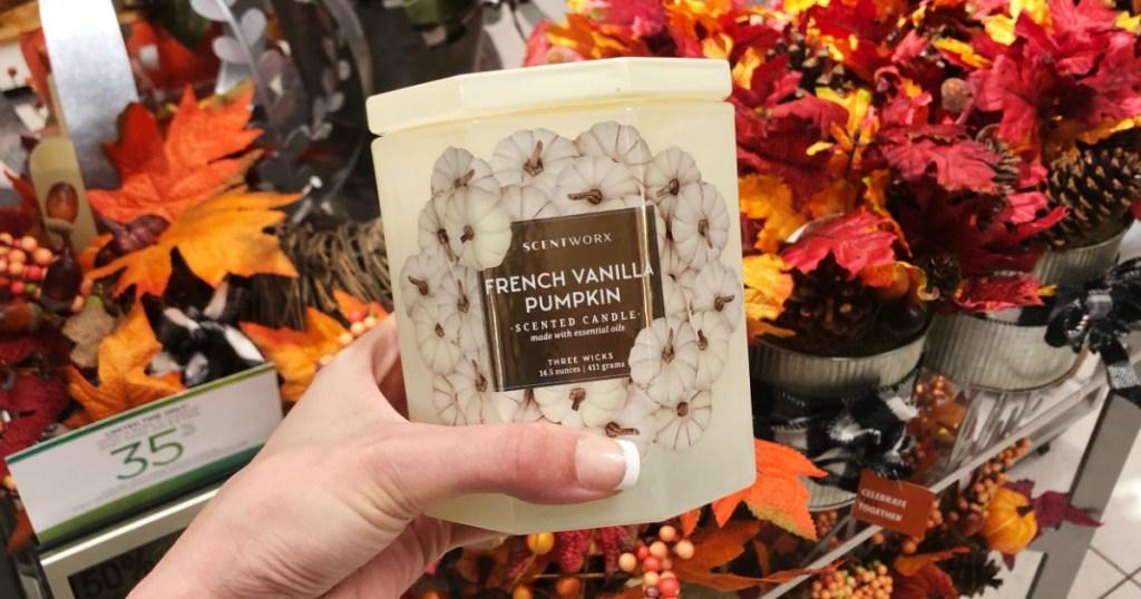French Vanilla Pumpkin Scentworx Candles