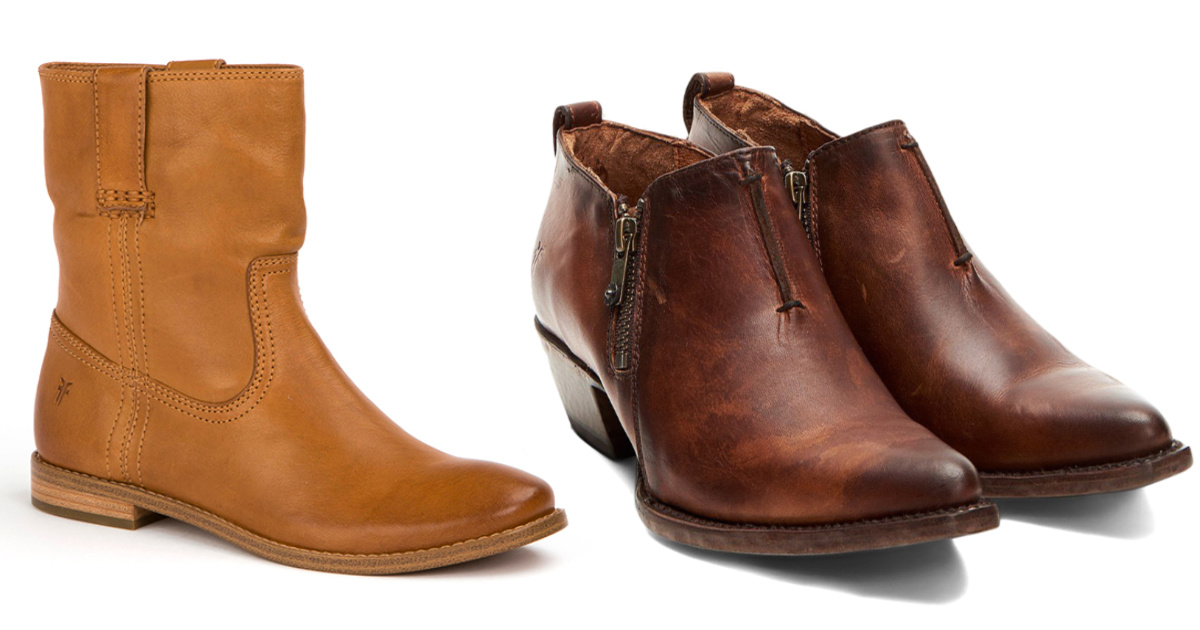 stock images of two pairs of frye boots