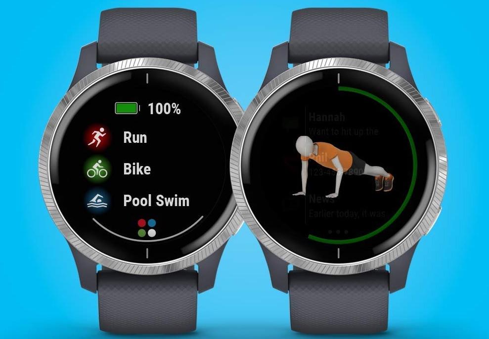 Garmin Venu GPS Smartwatch displaying sports apps