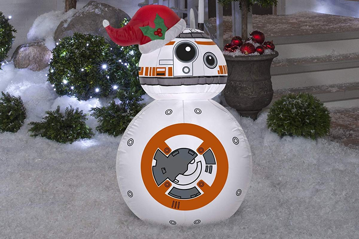 Gemmy Airblown Inflatable BB-8 w:Santa Hat