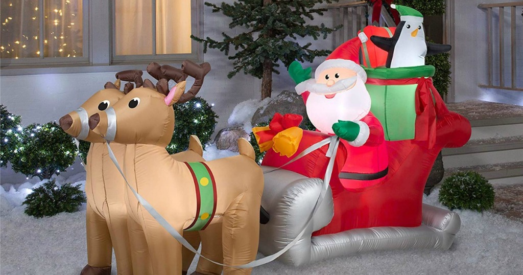 Gemmy Inflatable Santa with Sleigh