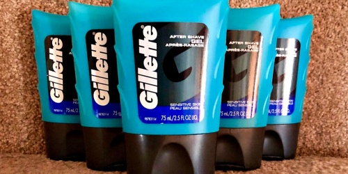 Gillette Sensitive Skin After Shave Gel 6-Pack Only $9 Shipped at Amazon