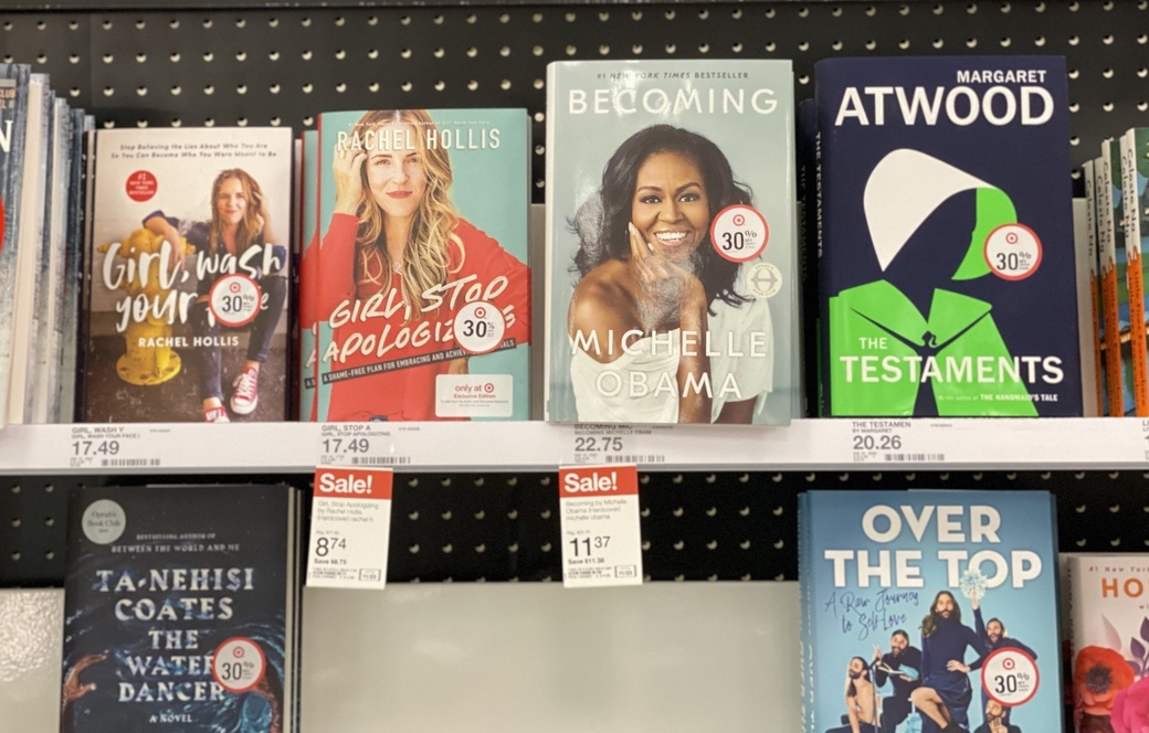 Girl, Stop Apologizing and Becoming on shelf at Target
