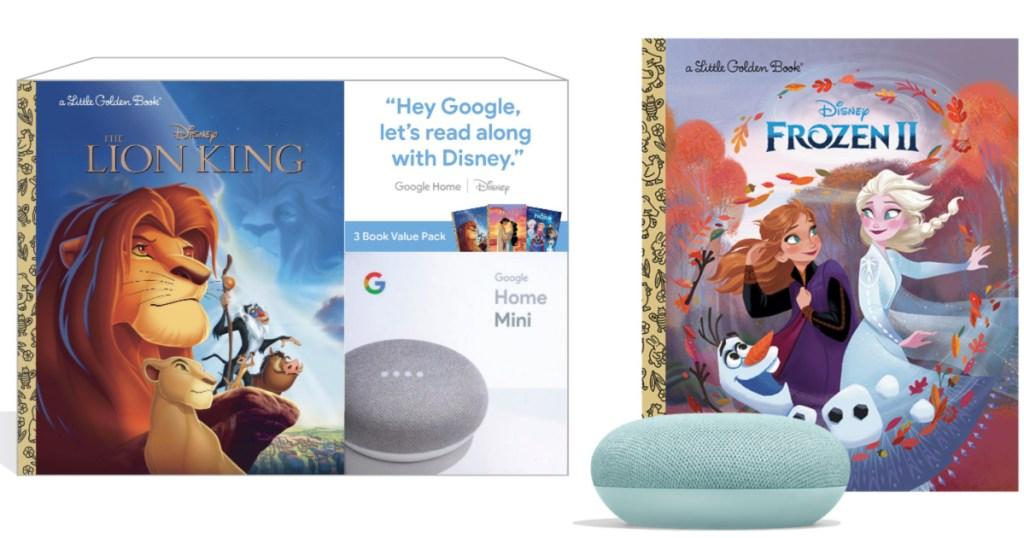 google home mini lion king and frozen book bundles