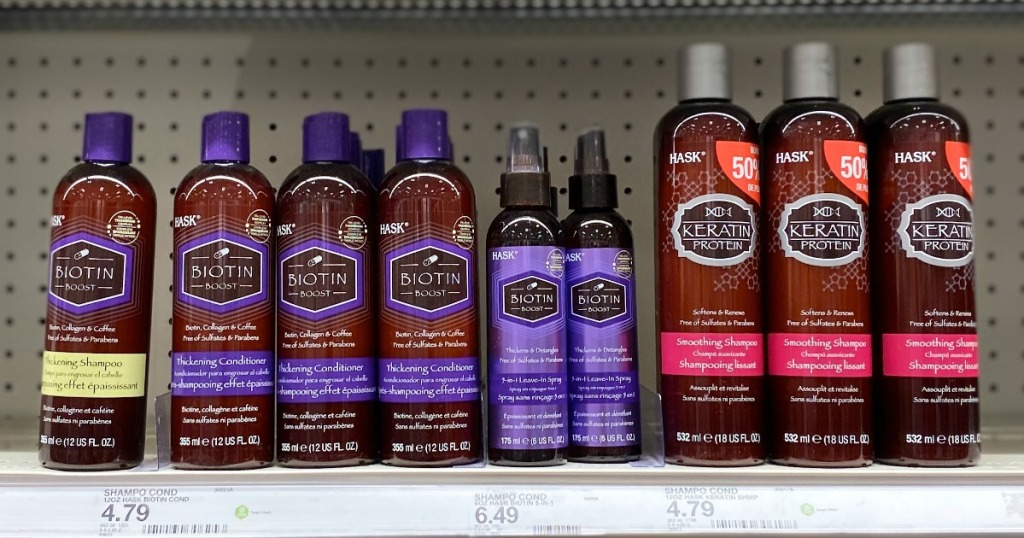 HASK Hair Care on Target shelf