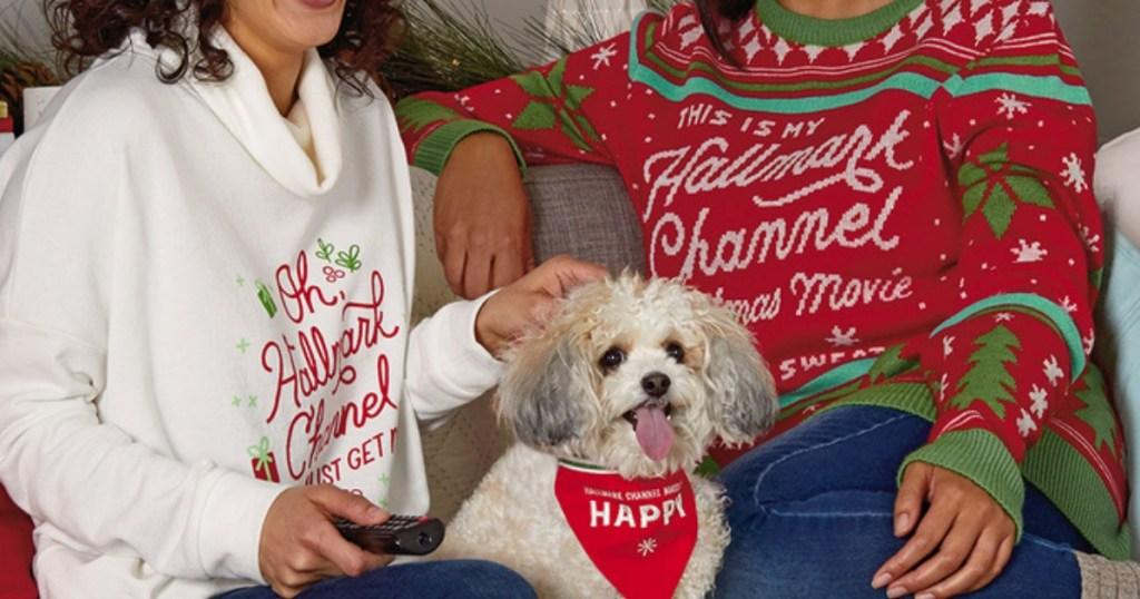 Women wearing Hallmark Channel sweaters