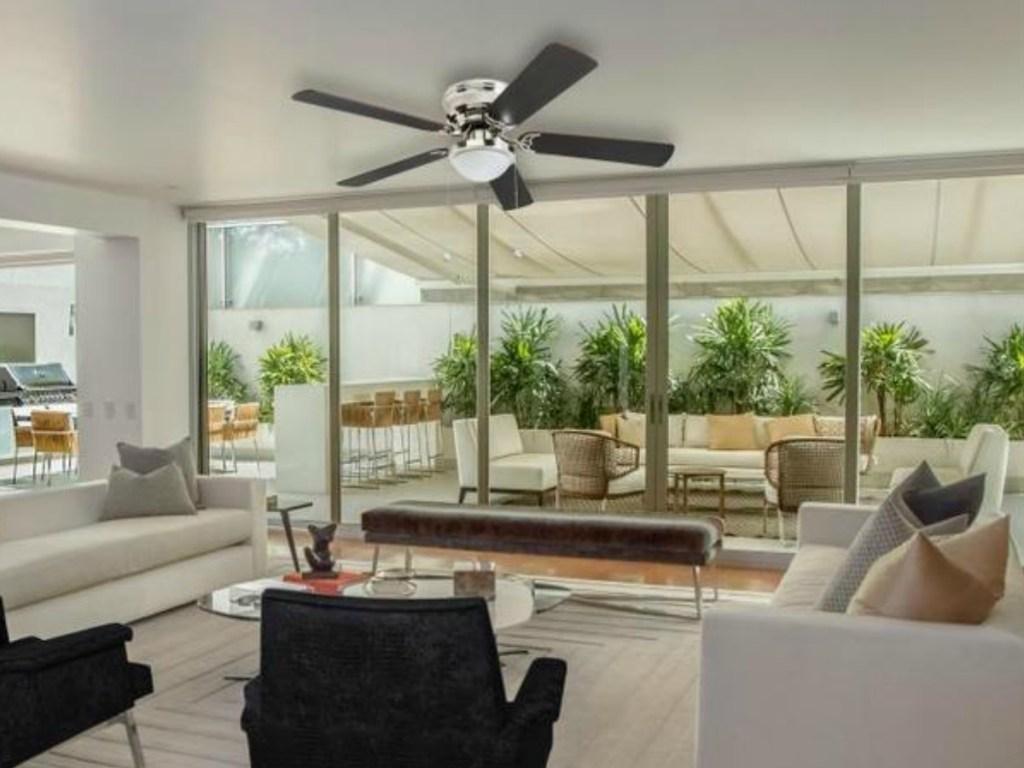 Harbor Breeze Ceiling Fan in living room