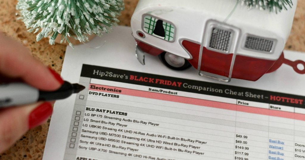Hip2Save's Black Friday price comparison cheat sheet