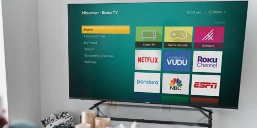 Hisense 75″ 4K Roku Smart TV Only $599.99 Shipped at Best Buy (Regularly $900)