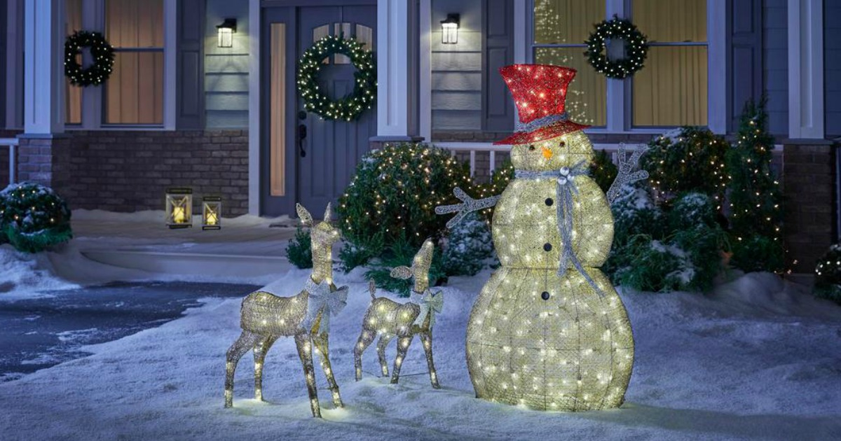Home Accents Holiday Snowman and deer