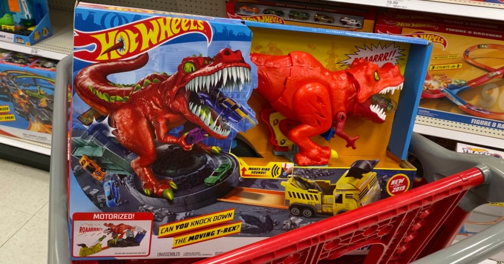 Hot Wheels T-Rex Rampage Set in Target cart