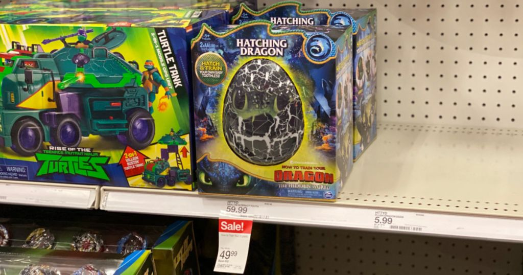 How to Train Your Dragon Hatching Toothless at Target on shelf