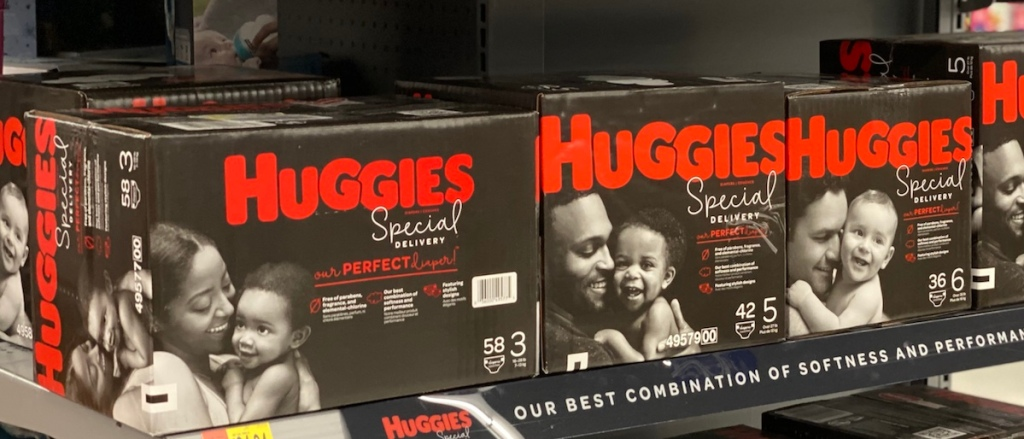 Huggies Special Delivery Diapers on shelf
