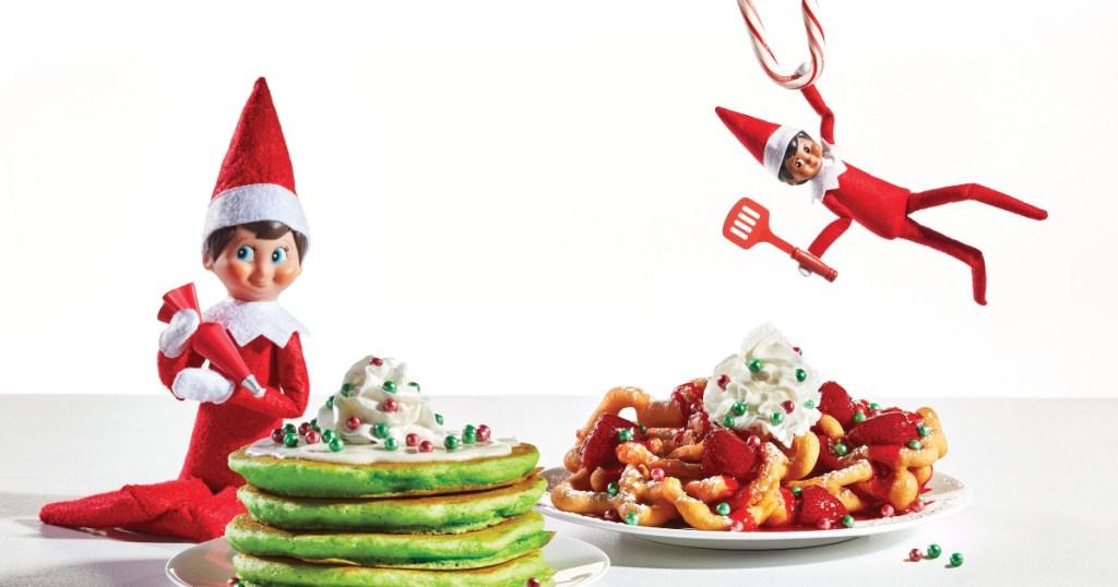 Elf on the Shelf with IHOP menu items