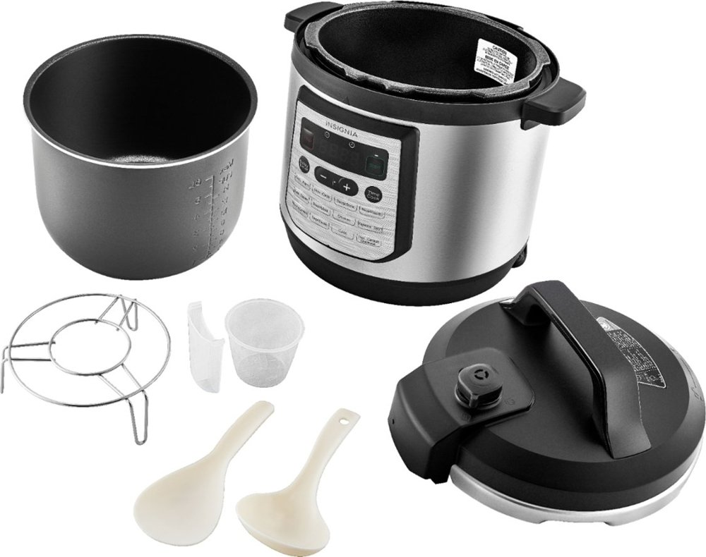 Insignia Pressure Cooker with contents