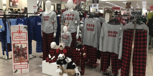 Matching Family Holiday Pajamas as Low as $11.60 at JCPenney
