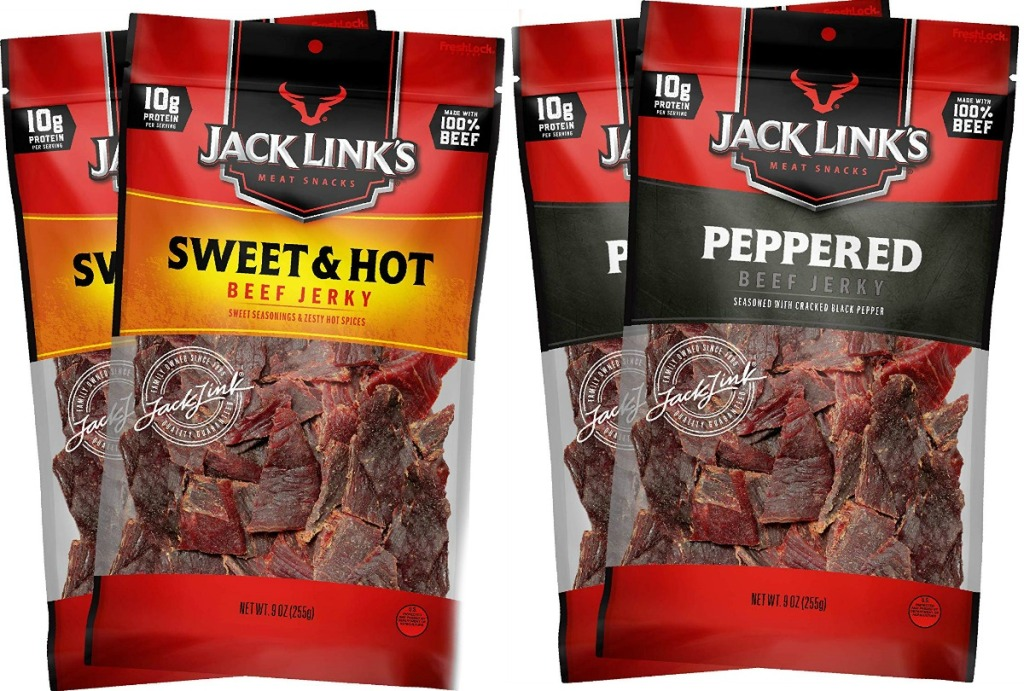 Four bags of beef jerky