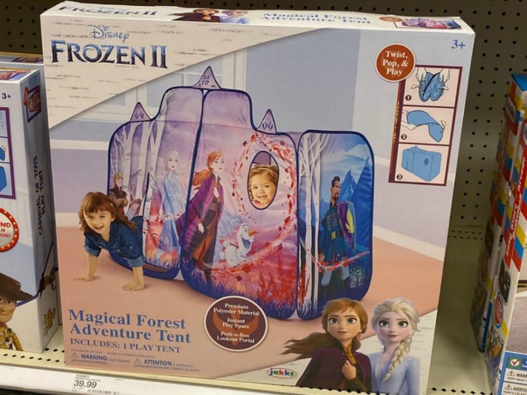 Jakks Disney Frozen Play Tent in package on shelf at Target