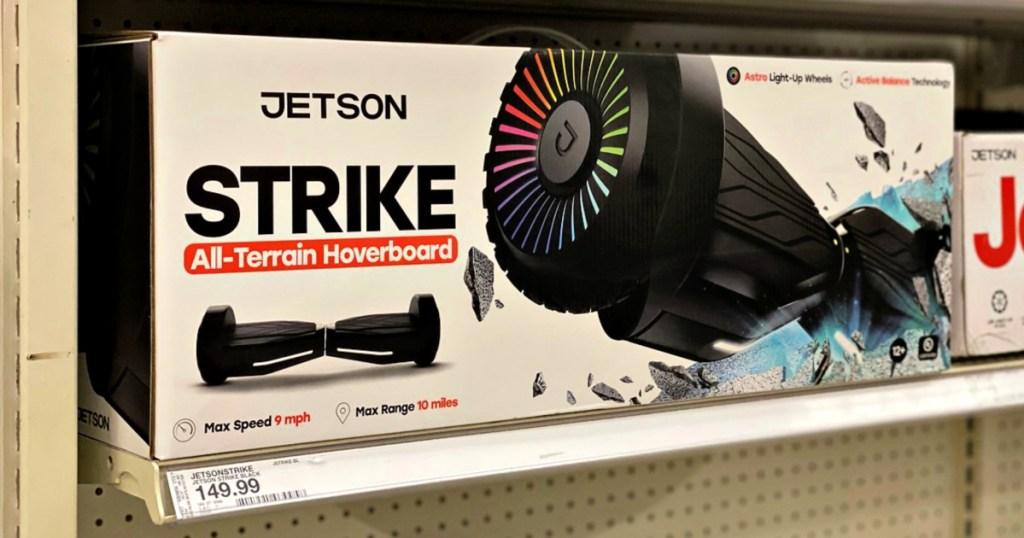 Jetson Strike Hoverboard on shelf at Target