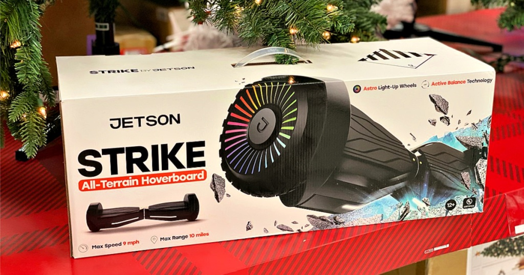 Jetson Strike Hoverboard under Christmas Tree