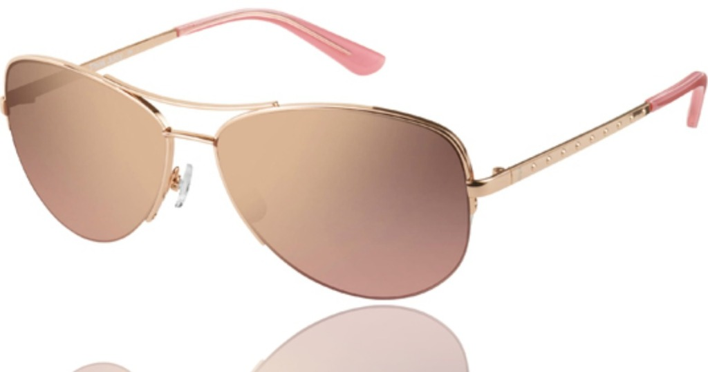 pair of sunglasses with wire rims
