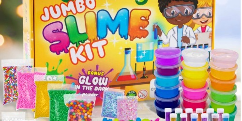 Jumbo DIY Slime Kit Only $17.47 on Amazon | Includes 18 Containers, Glitters, Beads & More