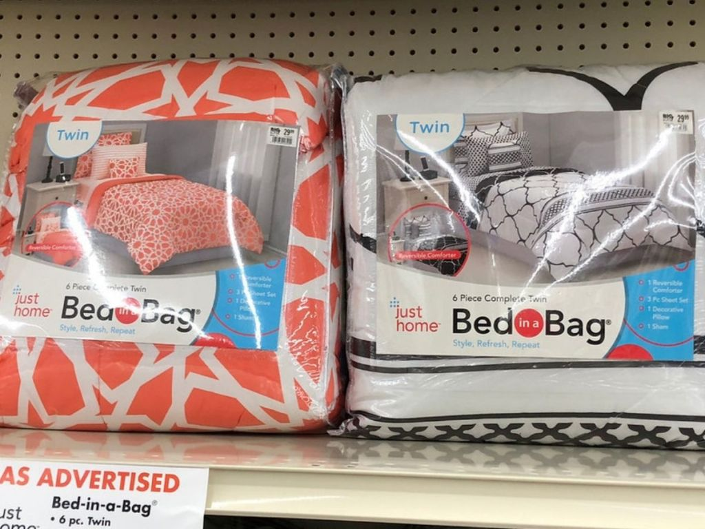 Just home twin bed in a bag sets