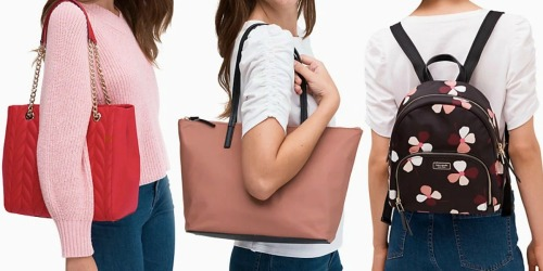 Up to 75% Off Kate Spade Handbags & Backpacks + FREE Shipping