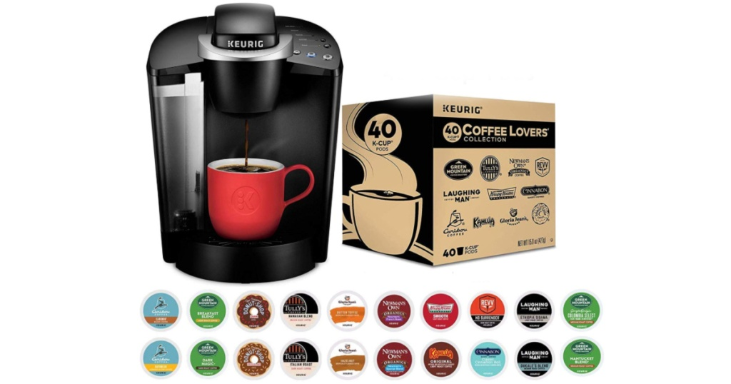 Keurig K-Classic Coffee Maker with Coffee Lover's 40-count K-Cup Pods Variety Pack