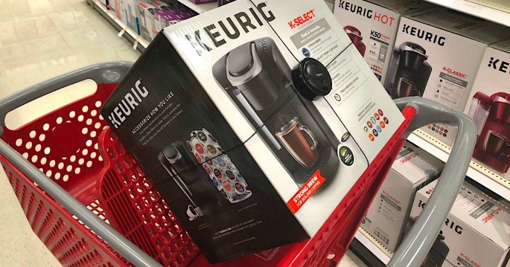 keurig coffee maker in red target shopping cart