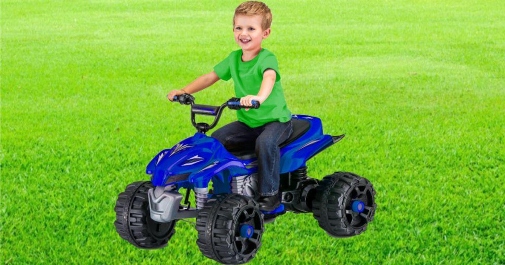 blue Kid Trax Sport ATV