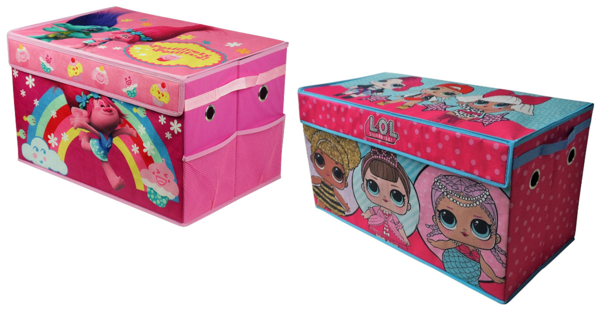 two kids character toy chests