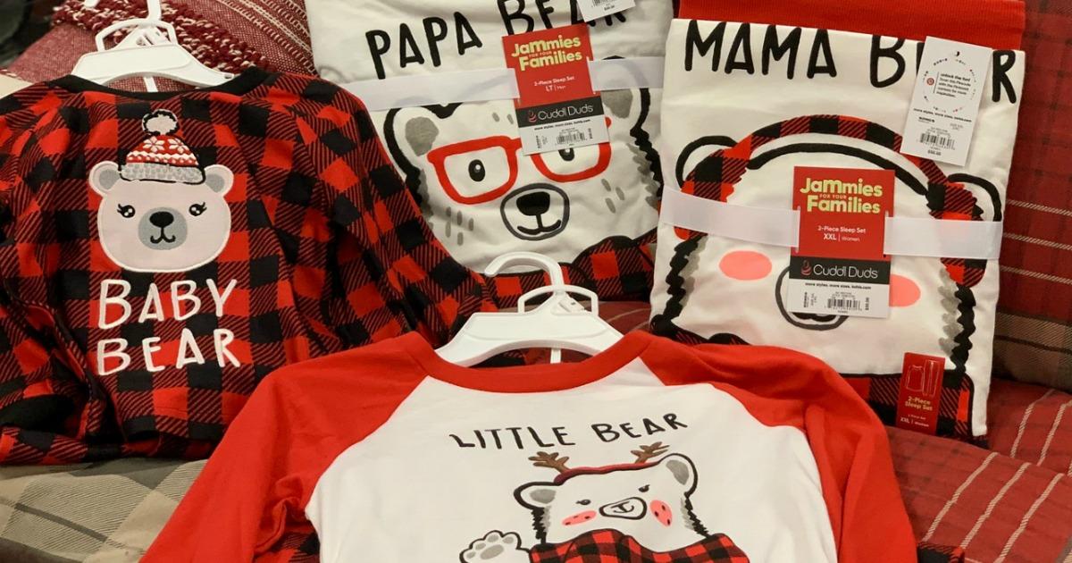 Kohl's CuddlDuds Family Pajamas on display at store