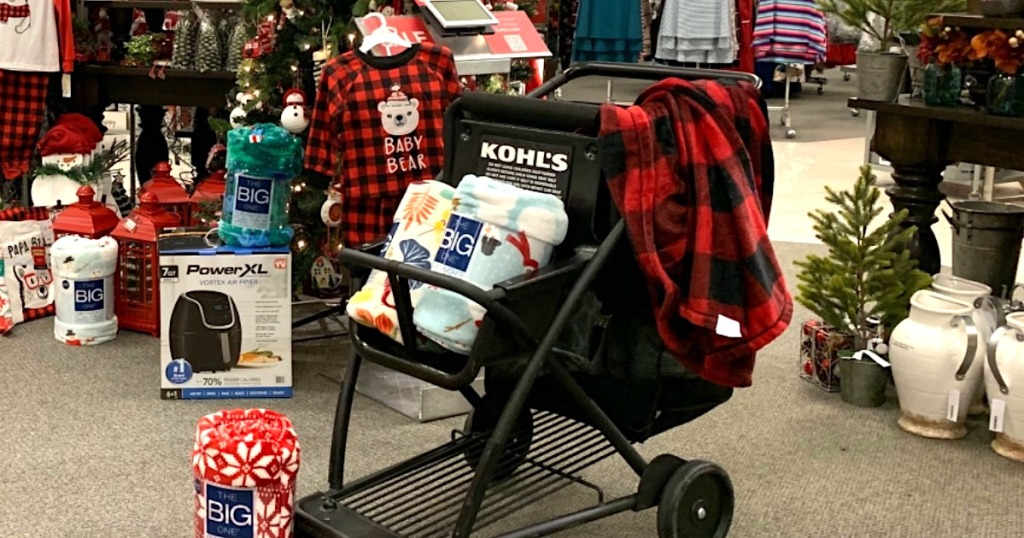 Kohl's cart filled with Black Friday deal items