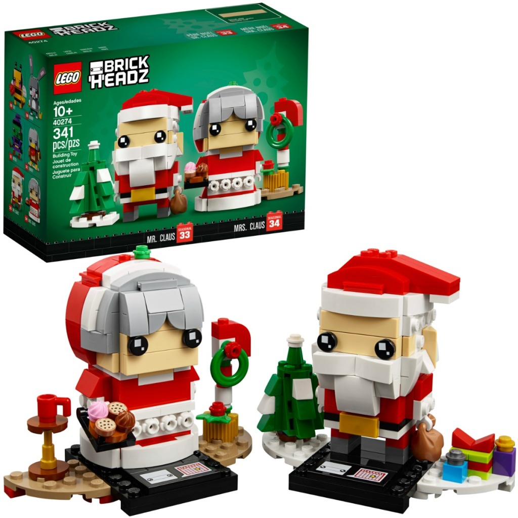 LEGO BrickHeadz Mr & Mrs Clause figures