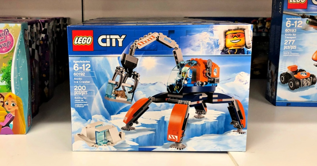 LEGO City Arctic Ice Crawler Building Kit on shelf